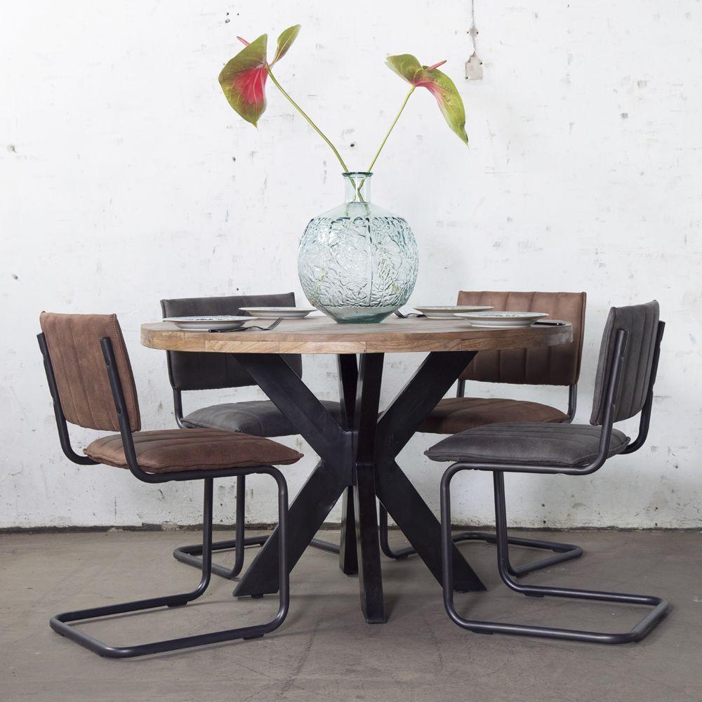 Industrie Esstisch O 130 Cm Rund Barn Esszimmertisch Tisch Holztisch Esszimmertisch Esstisch Rund Holz Esstisch
