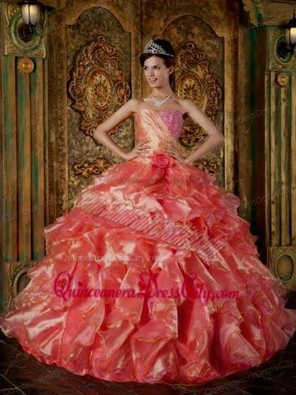 d65331388b Awesome quinceanera dresses coral and gold 2018-2019