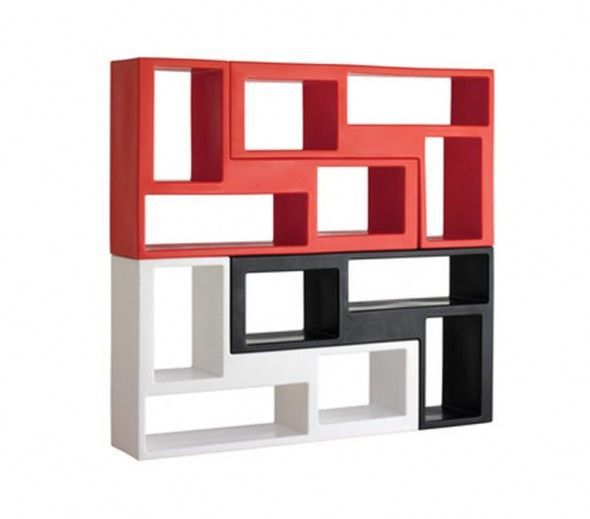 Contemporary Urban Modular Bookshelf Design For Office Interior