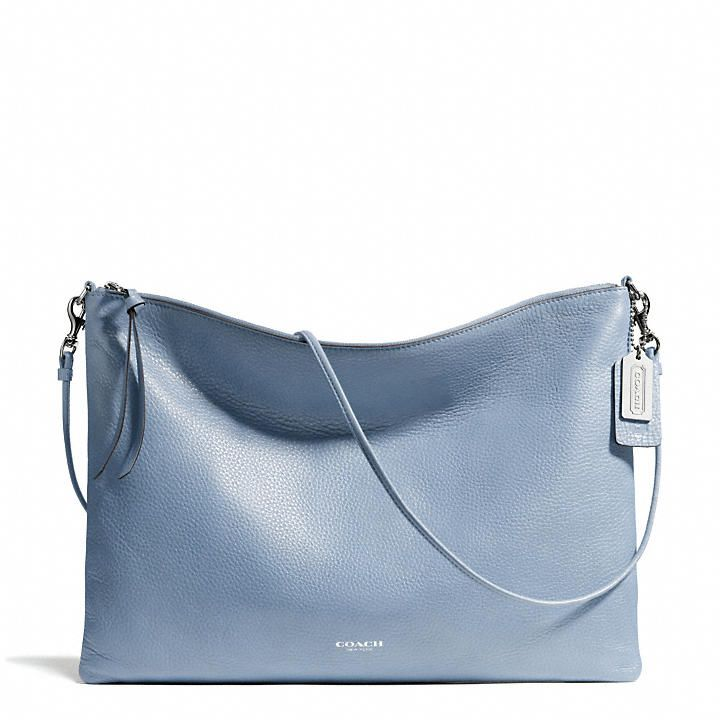 602b1cfa6d8c Loving the Cornflower Blue in this Coach Bleecker Daily Shoulder Bag.  198