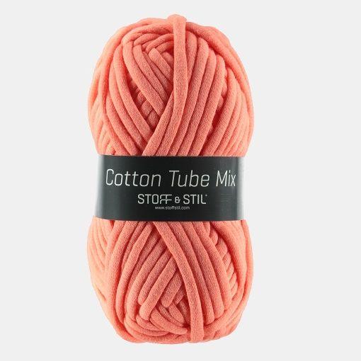 Garn cotton tube mix stærk koral