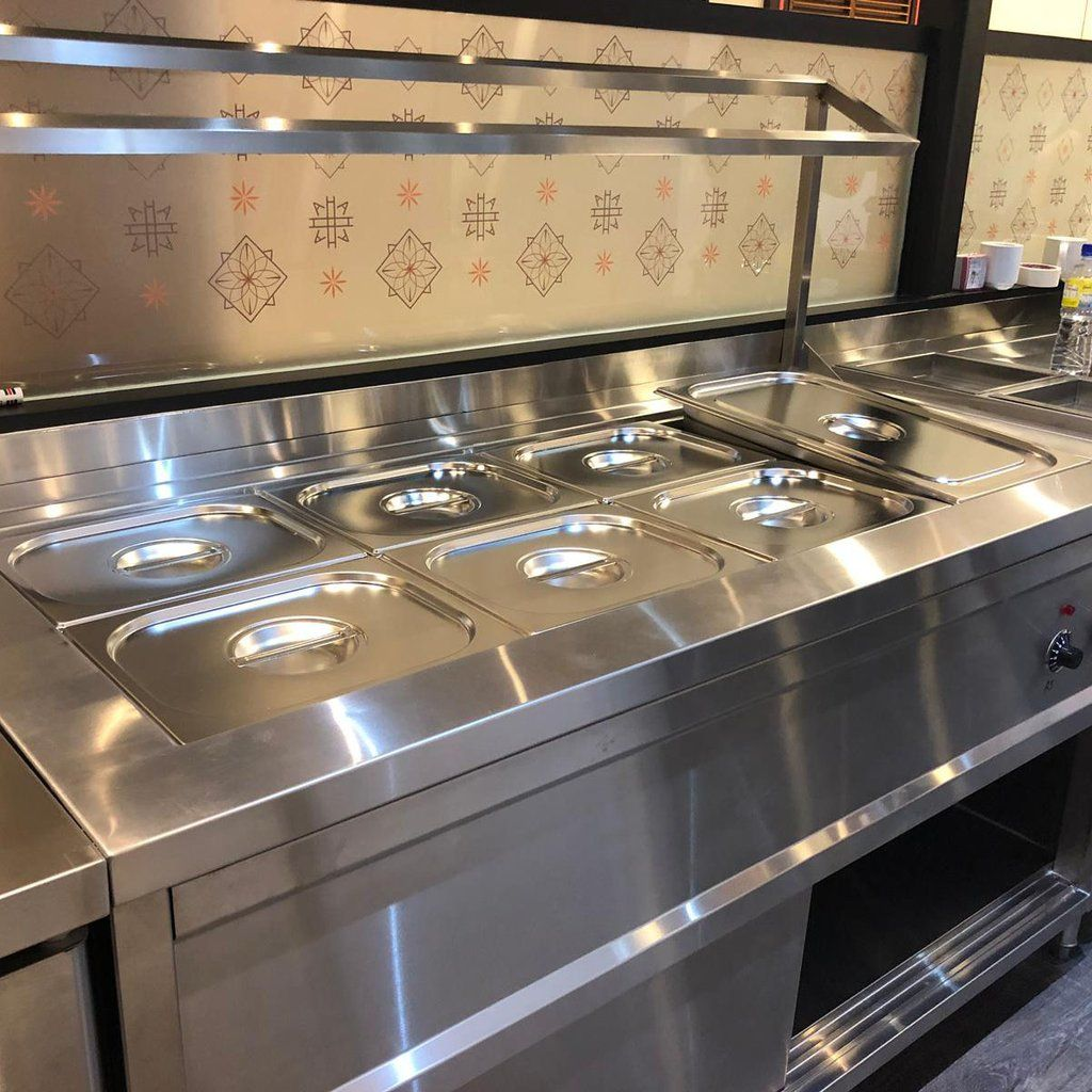 Stainless Steel Bain Marie Food Warmer Commercial Kitchen Design
