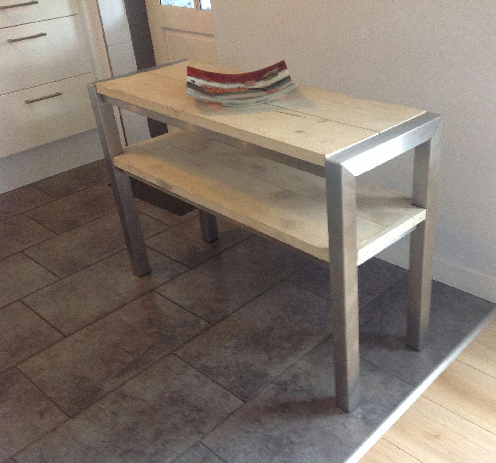 Sidetable Buiten Rvs.Rvs Side Table Schaapman Rvs Design Rvs En Tafels