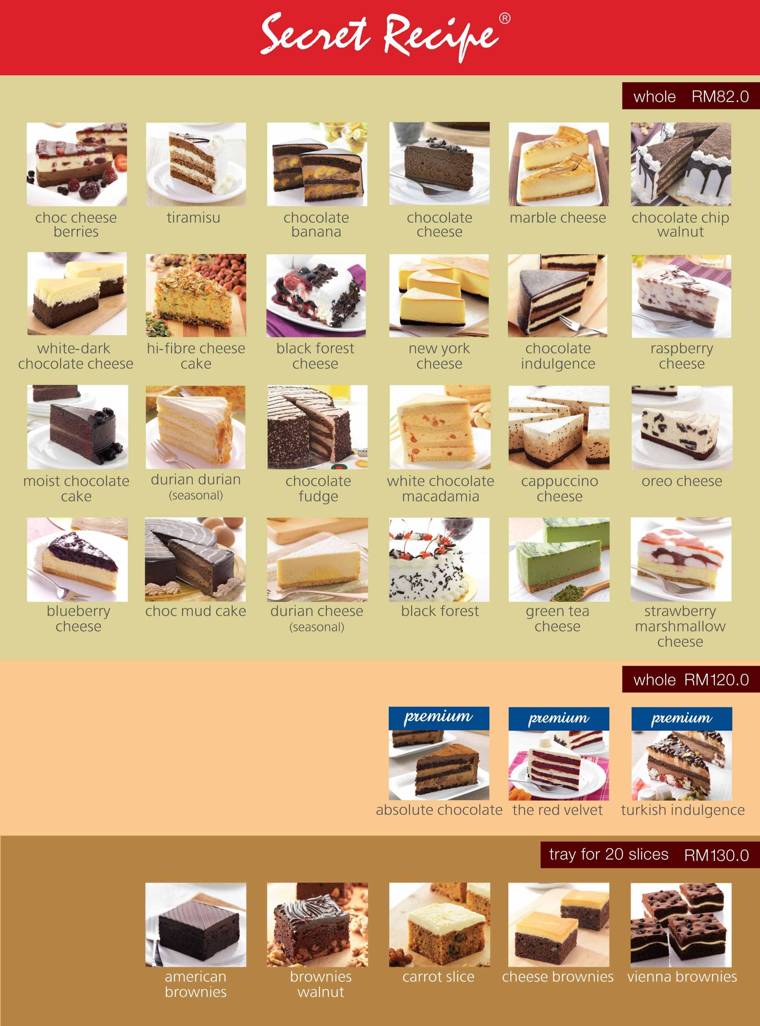 Secret recipe cakes delivery