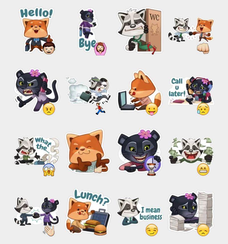 Viber Rocco Stickers Set | Telegram Stickers