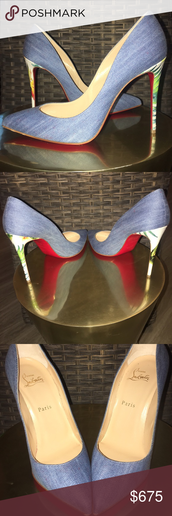 f871ad89669 LOUBOUTIN PIGALLE FOLLIES 100 JEAN CAL FHAWAII Christian Louboutin s  PIGALLE FOLLIES are styled with a