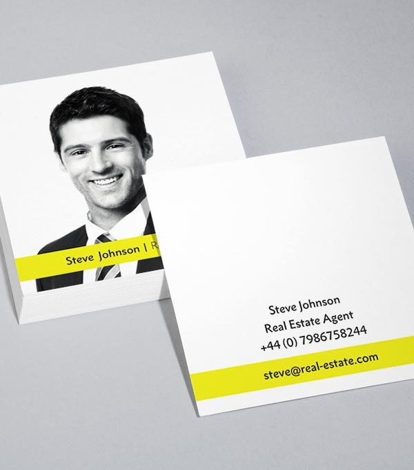 Square business card designs special agents real estate sales square business card designs special agents colourmoves
