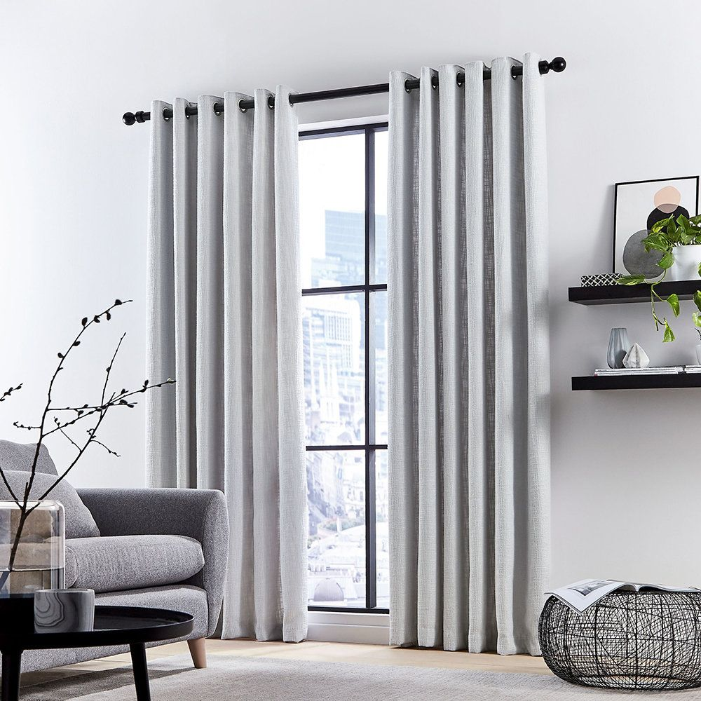 Simply Stylish These Curtains Will Complement Any Interior In Pale Silver Grey These Curtains In 2021 Grey Curtains Living Room Curtains Living Room Silver Curtains Silver living room curtains