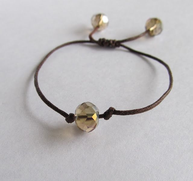 Crystal, Bead Bracelet, DIY tutorial - quick and easy Accessories