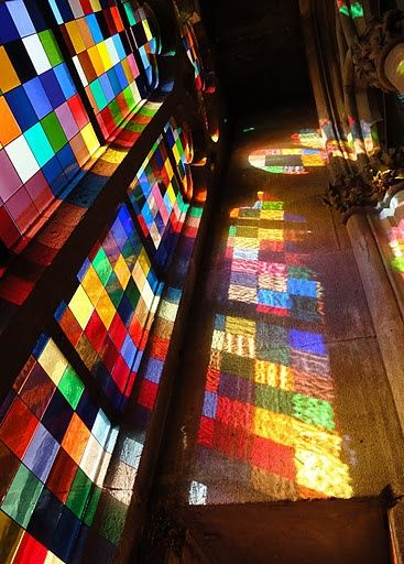 Gerhard Richter's stained glass window in the Cologne Cathedral