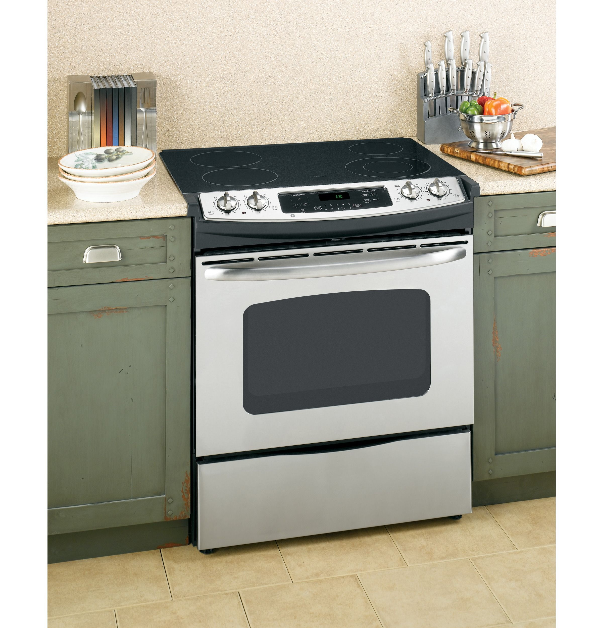 Jsp42snss Ge 30 Slide In Electric Range With Self Cleaning Oven