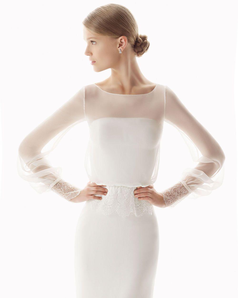 White color long sleeves wedding for girls wedding belles