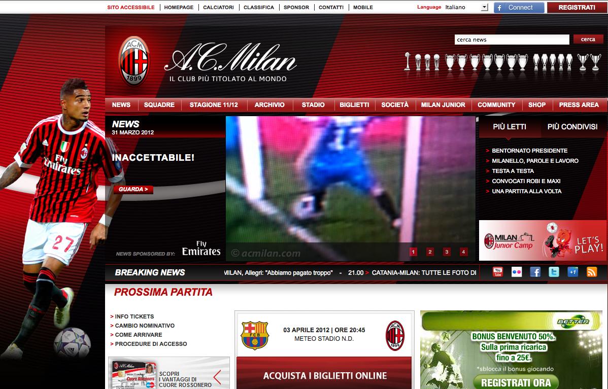 Diseño Web a.c.Milan