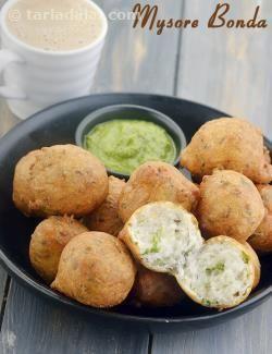 Mysore bonda south indian snack recipe by tarla dalal mysore bonda south indian snack recipe by tarla dalal tarladalal forumfinder Gallery