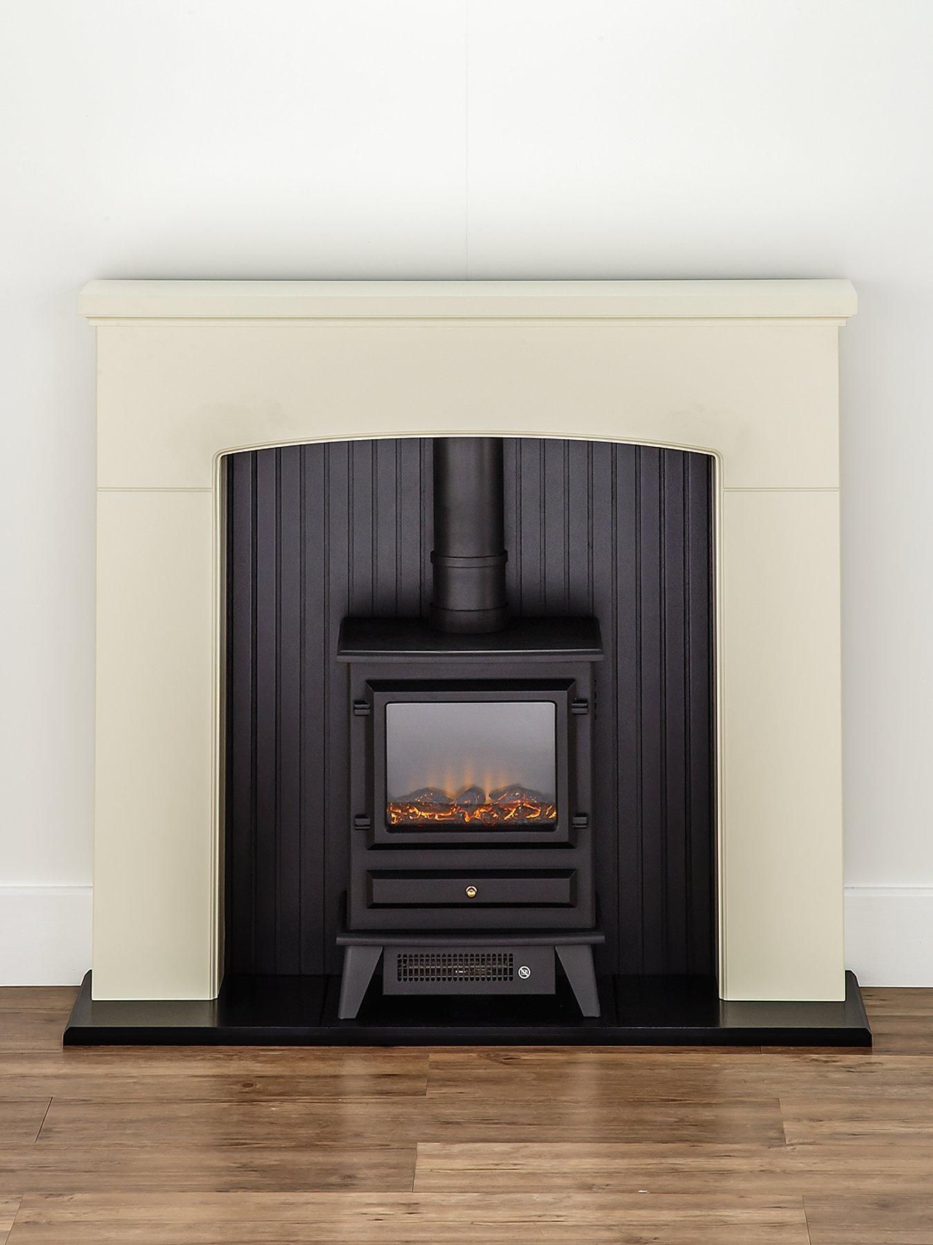 Adam fire surrounds denbury electric fireplace suite with stove