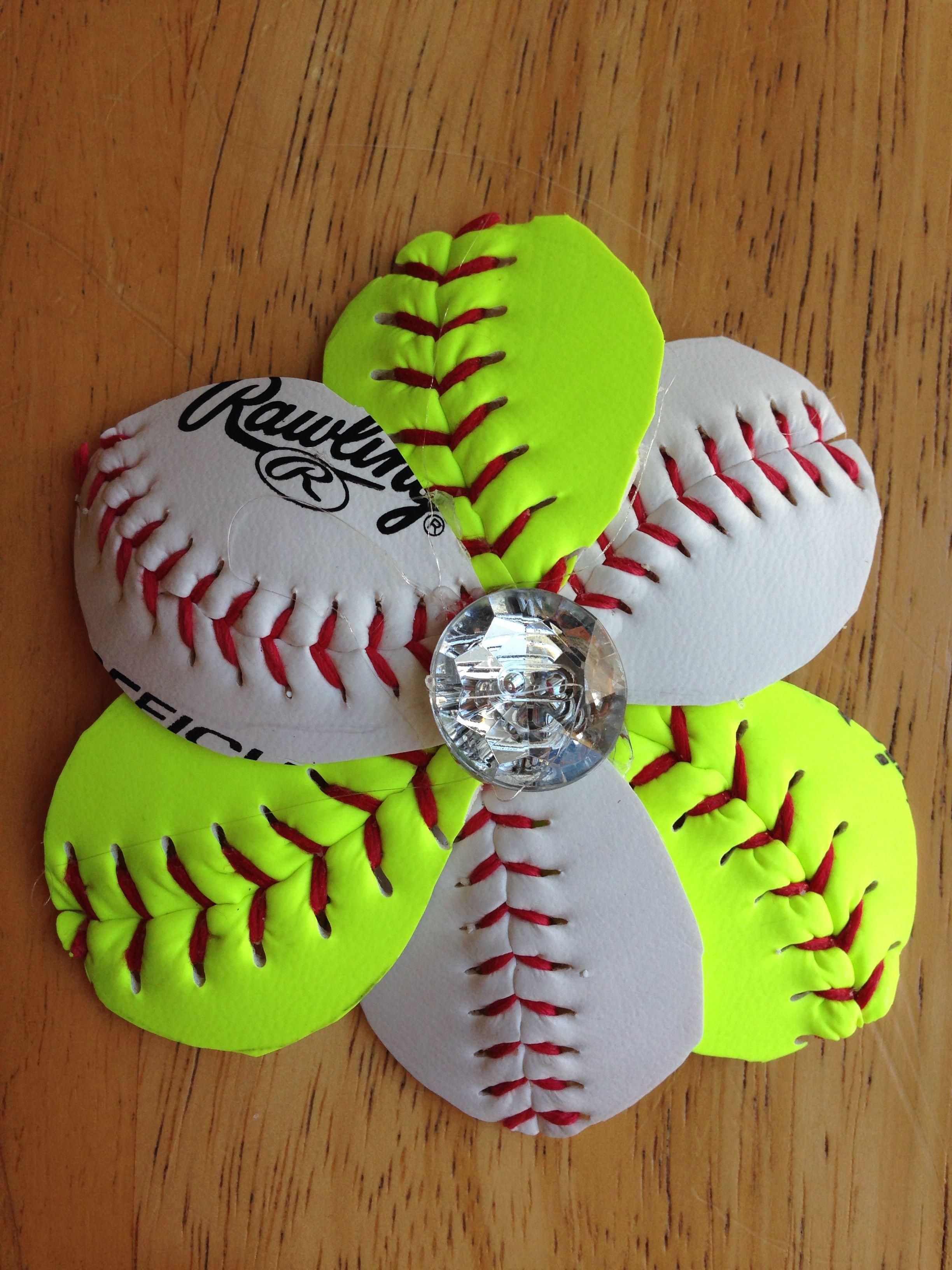 0a5e9db0542cd Baseball   Softball Fashion Flower. Can be added to flip flops