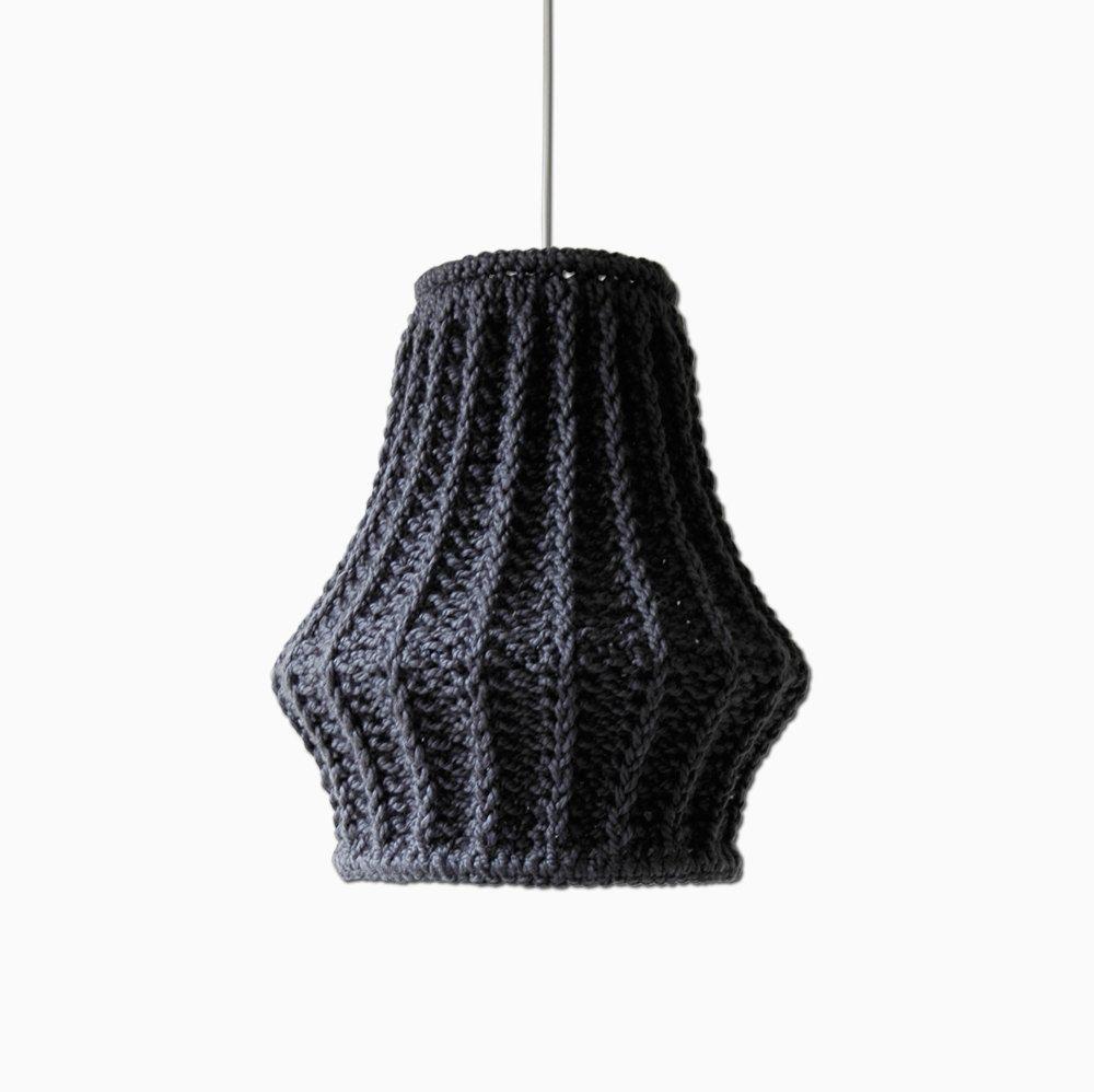 Oversize knit lampshade juula chunky knit pendant light unique