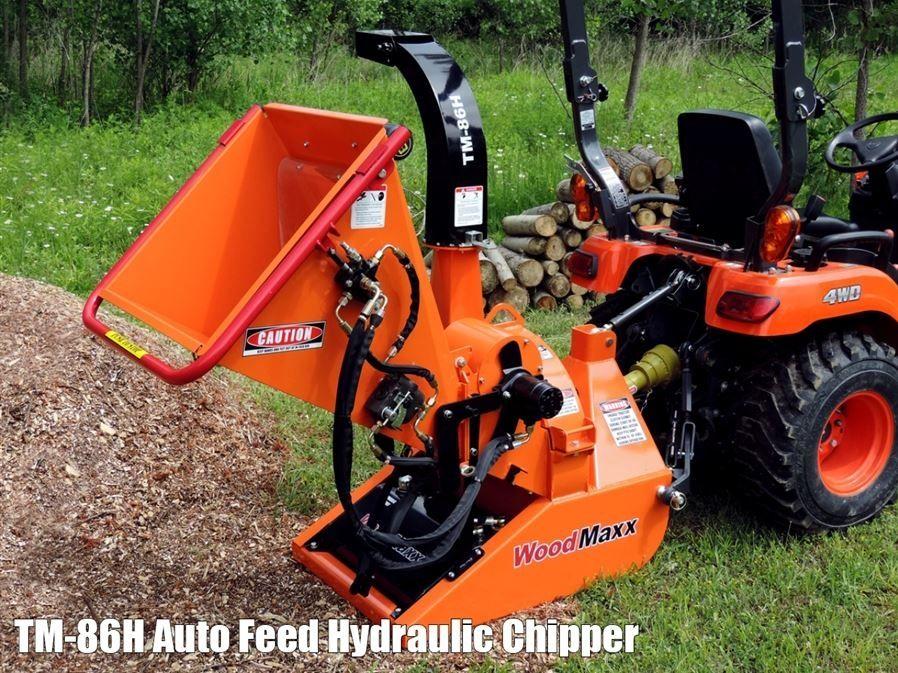 Homemade 3 Point Hydraulic Top Link : Woodmaxx tm h hydraulic wood chipper w infeed