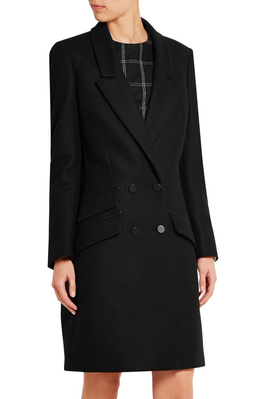 fc0d49f98e6 Shop on-sale Tod s Leather-trimmed wool-blend felt coat. Browse other discount  designer Coats   more on The Most Fashionable Fashion Outlet