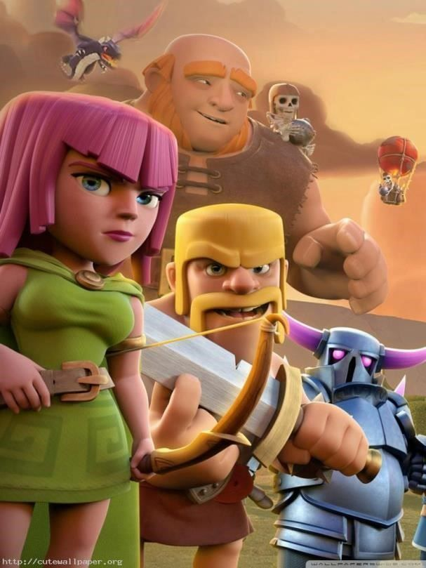 Download Clash Of Clans Character 3d Wallpaper Hd For