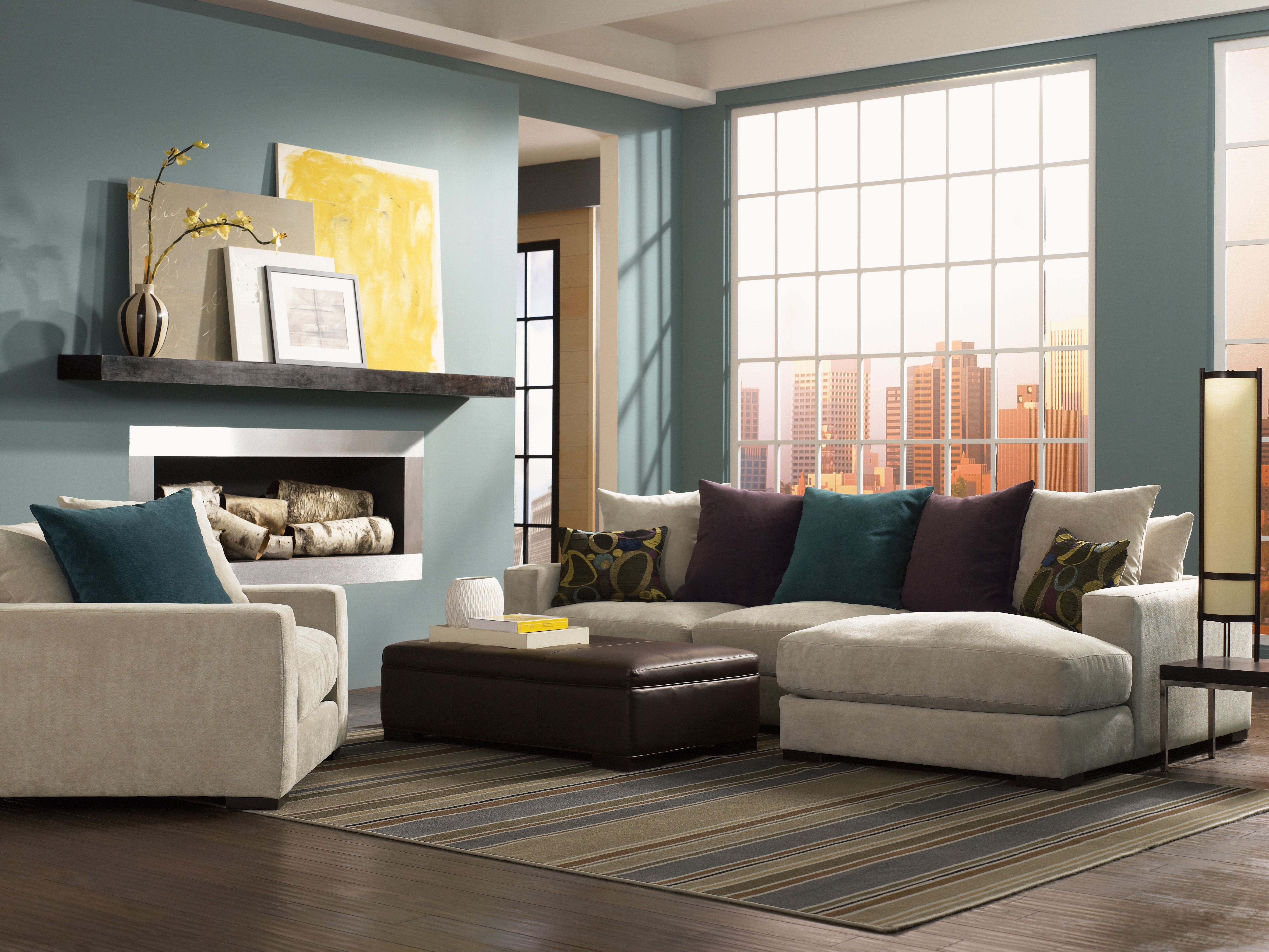 Lombardy Plush Down Alternative Sectional Available In Multiple