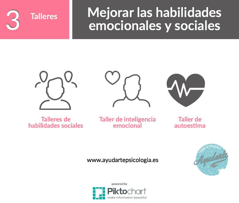 talleres verano 2017 ayudarte estudio psicología habilidades sociales estudio emociones niños