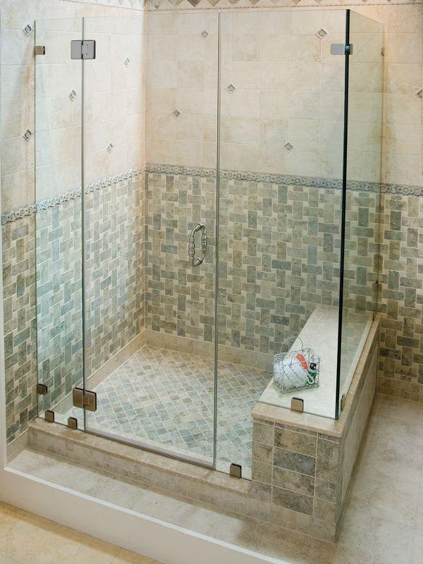 Corner Frameless Shower Enclosures gallery   easco shower doors   bathroom   pinterest   shower doors