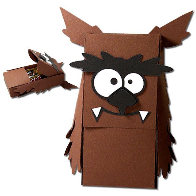 JMRush Designs: Werewolf Slider Hatch Treat Box