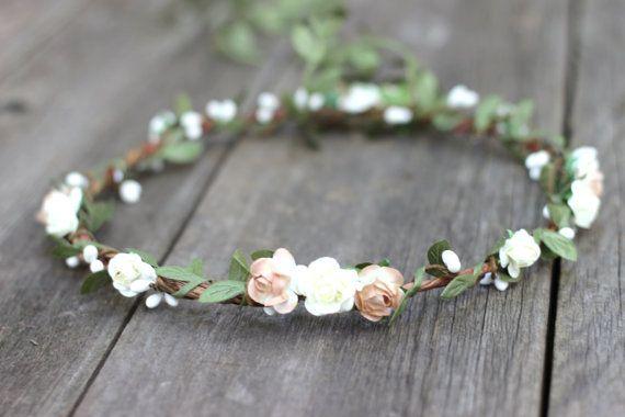 Photo of Artificial Silk Sheet – Flower Crown – Hair Garland Embossed Fabric Sheet – Flower Crown – Artificial Wedding Flower Halo – Wedding Crown