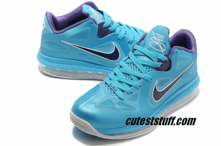 Lebron 9 Low Summit Lake Hornets Turquoise Court Purple 510811 400.jpg # Purple #