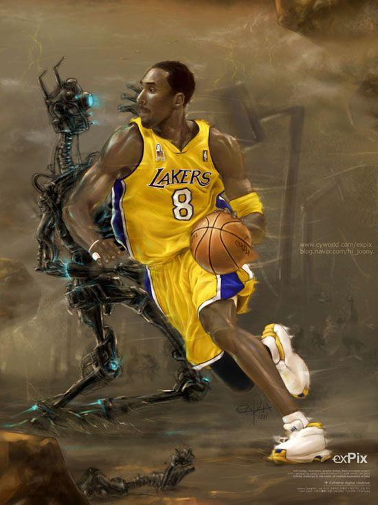 on sale 0e156 d35d1 Space Kobe Bryant by expix on deviantART ~ Lakers ~ digital art