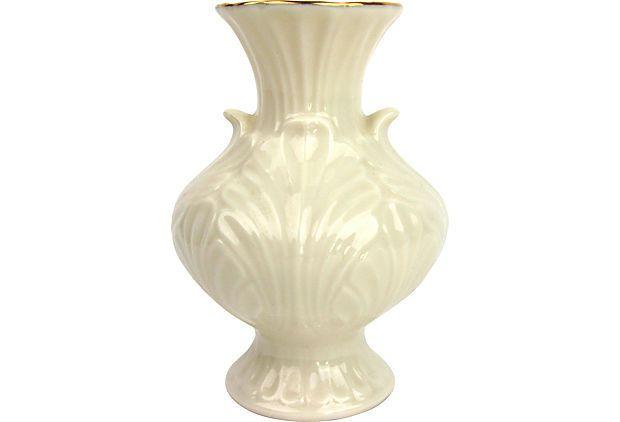 Small Lenox Ceramic Vase W Gold Trim On One Kings Lane Vintage