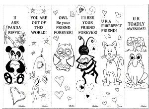 Bookmark Template For Kids To Color Printable template in pdf ...