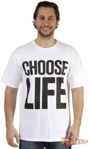 f6d0ac952 This CHOOSE LIFE shirt was worn by George Michael and Andrew Ridgeley of  Wham! in their video for the song Wake Me Up Before You Go-Go.
