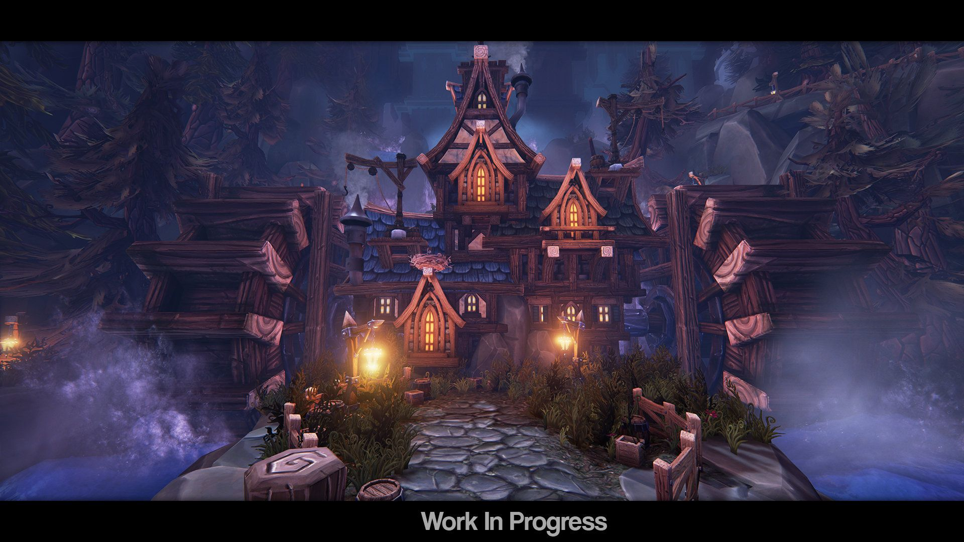ArtStation Stylized Environment Wip 05, Tobias Koepp