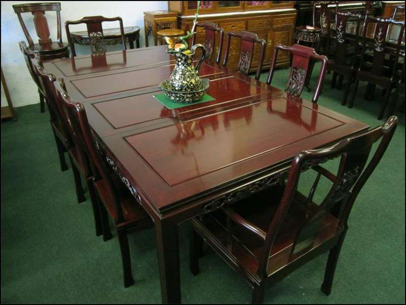 Chinese Rosewood Dining Table Set Modern Home Furniture In