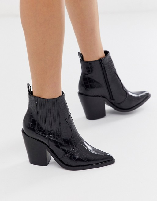 ASOS DESIGN Elliot western ankle boots