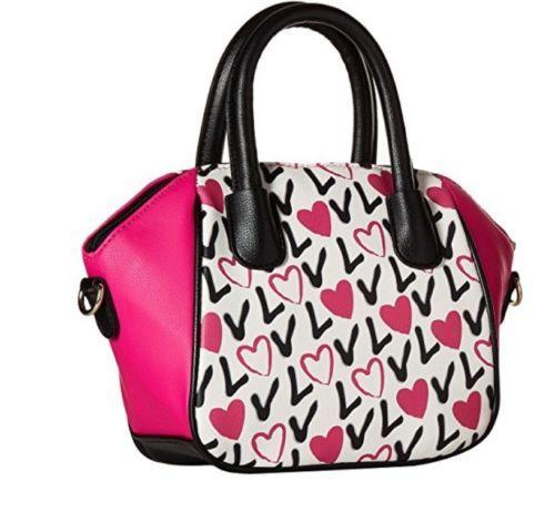 184504b4d ICYMI: Nwt LUV BETSEY satchel Crossbody shoulder hearts love handbag purse  LBGIGI