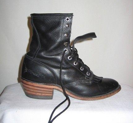 Vintage 80s Steam punk Grunge Granny Boots fit 8 by VintageTempest  - Stylehive