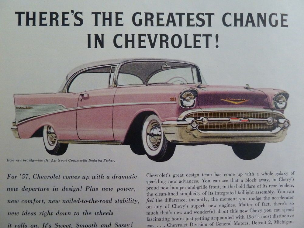 Chevrolet Bel Air Sport Coupe Fisher Body 1957 '57 Pink
