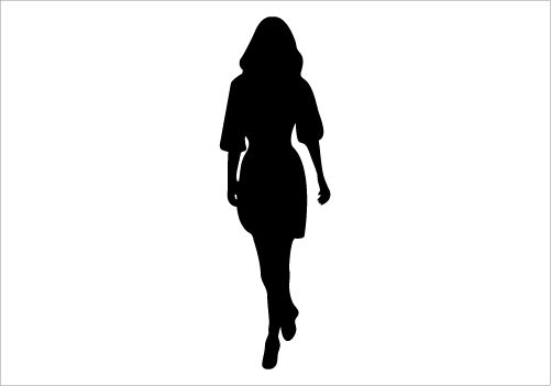 Walking Women Silhouette Graphics Silhouette Graphics