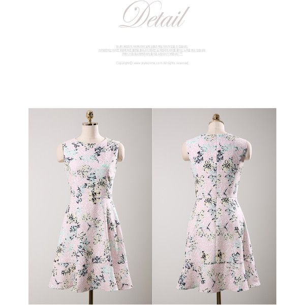 Styleonme Floral Flare Dress via Polyvore