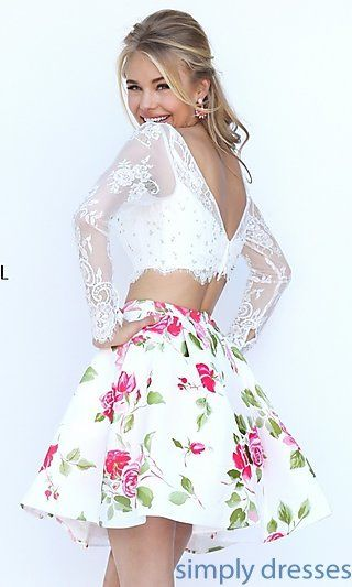 short white prom dresses with prints