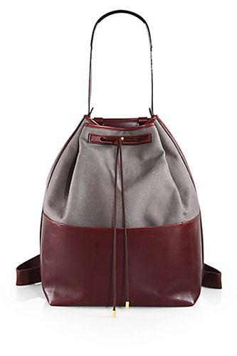 The Row Linen Leather Backpack 3 400 Available At Saks Fifth Avenue Yeesh