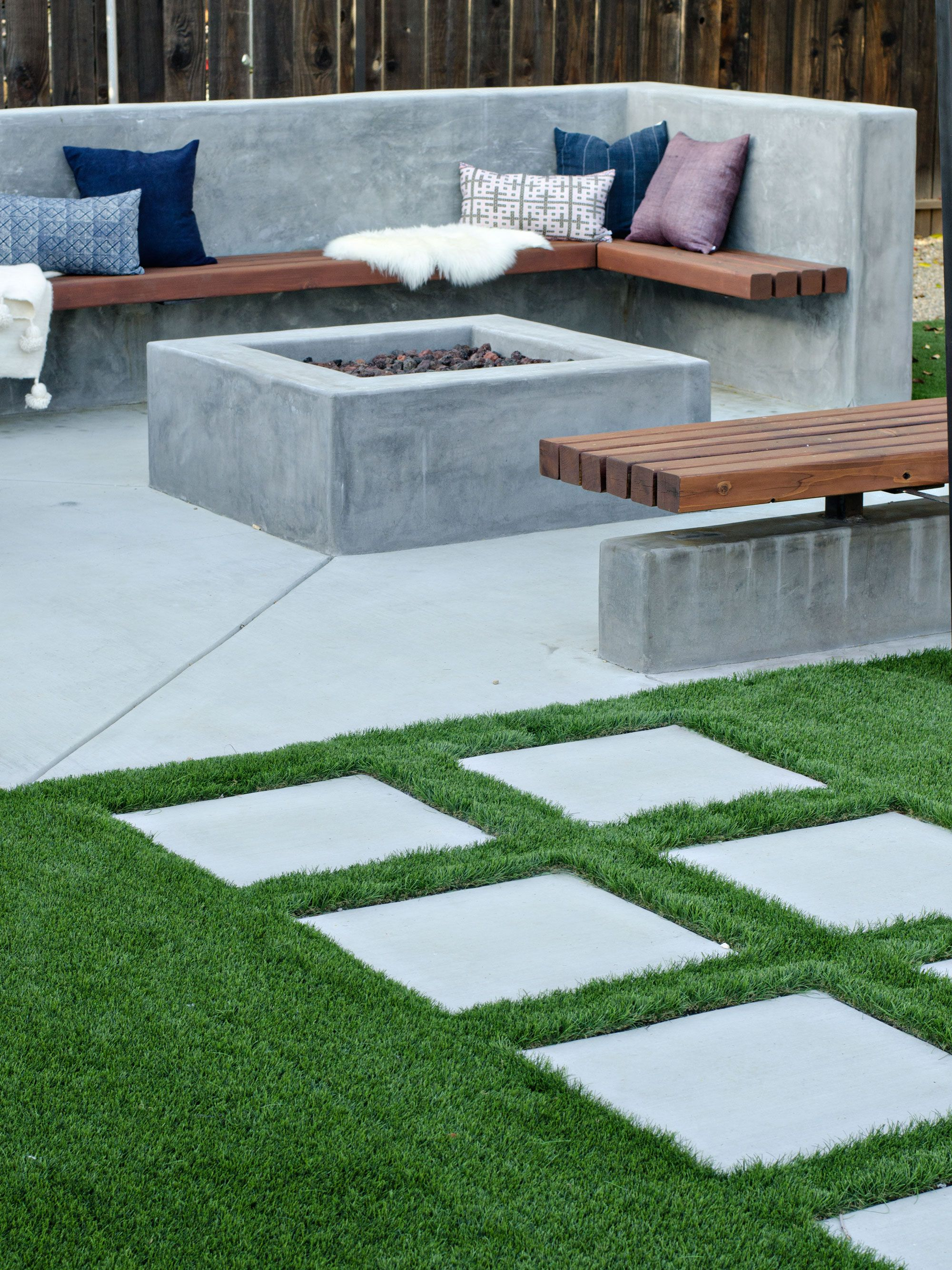 Modern California Backyard Patio Reveal | brittanyMakes | Fire Pits ...