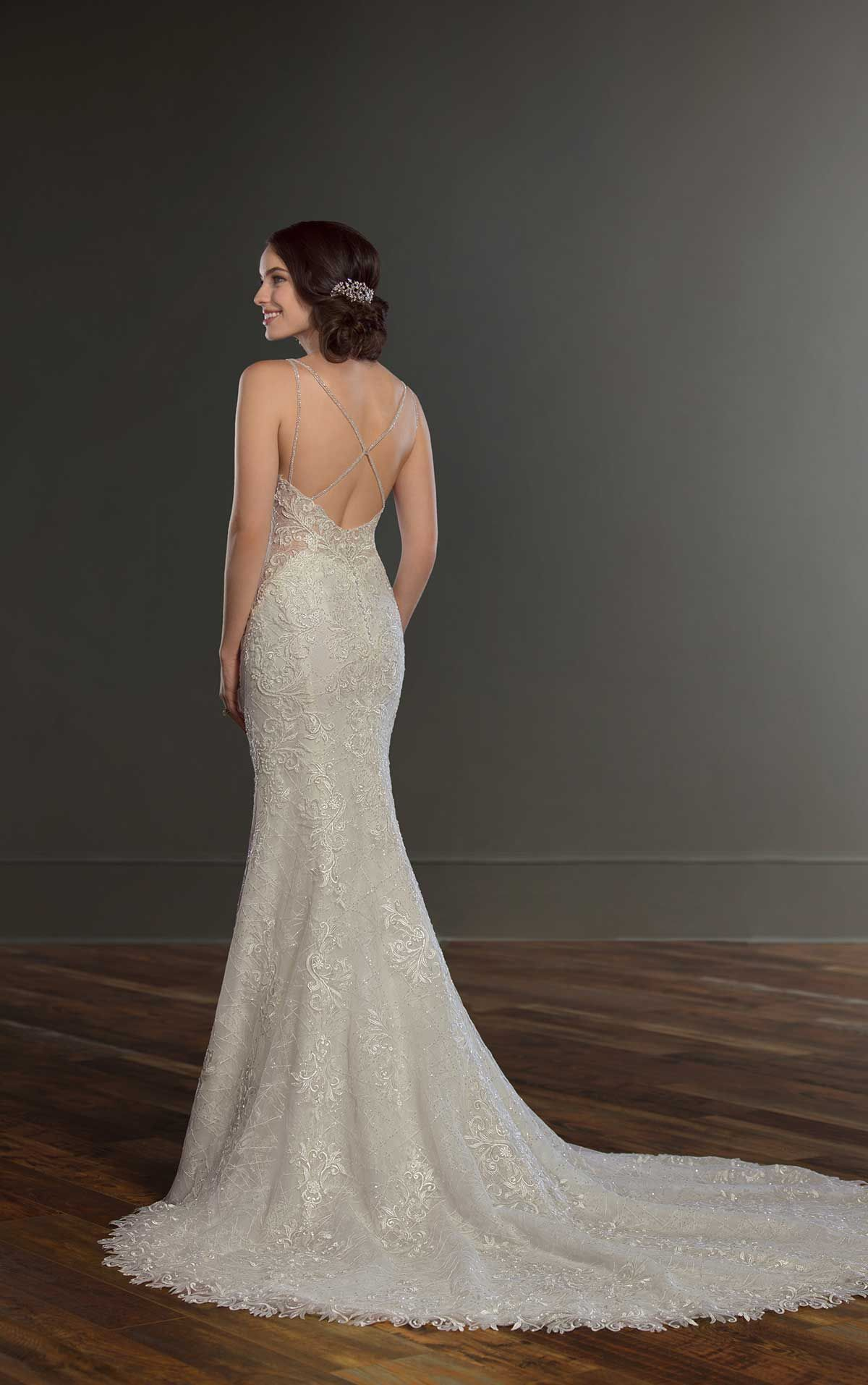 Open back lace wedding dresses  Lace and Tulle Detailed Wedding Dress in    Wedding