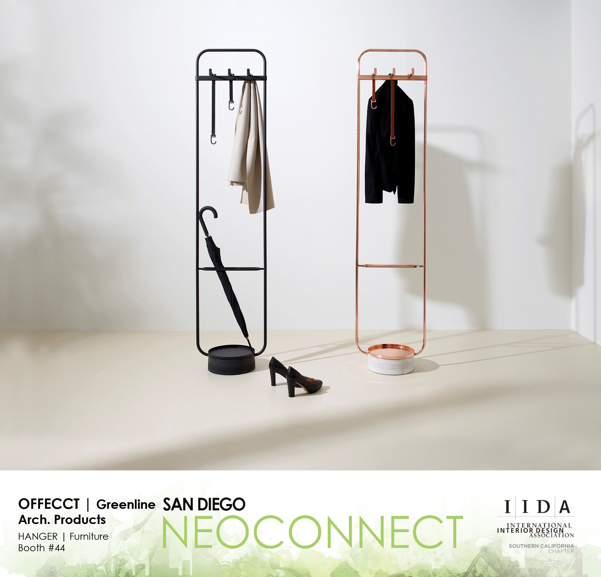 Offecct greenline arch products booth hanger furniture