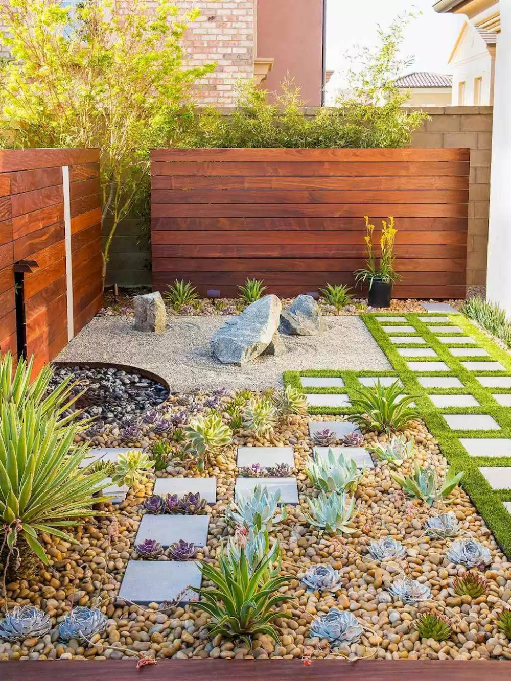 Simple clean modern front yard landscaping ideas (57 ...