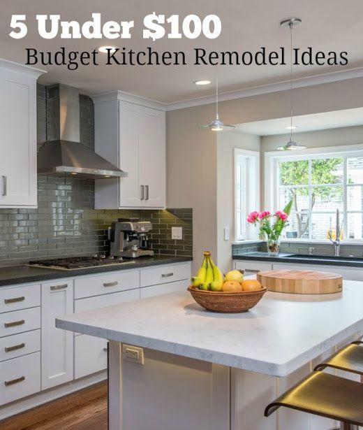 5 Budget Kitchen Remodel Ideas Under 100 You Can Diy Budget Kitchen Remodel Kitchen Remodel Small Inexpensive Kitchen Remodel