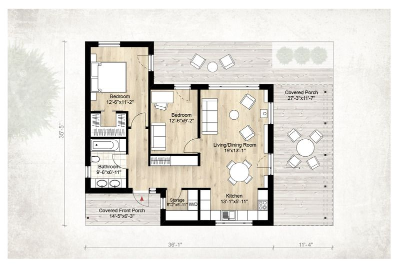 Modern style house plan beds baths sq ft floor main also rh pinterest